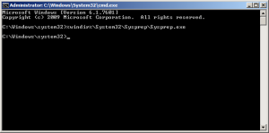 Comando SysPrep